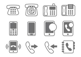 Kostenloser Telefon-Element-Vektor vektor