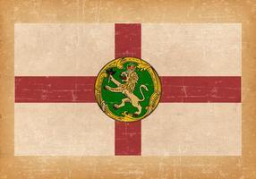 Flagge von Alderney auf Grunge-Stil Hintergrund