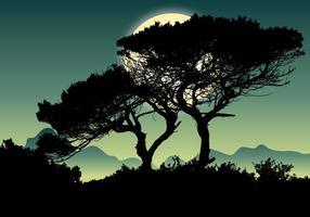 Vackert landskap scen