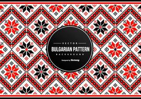 Bulgariska broderimönster Bakgrund vektor