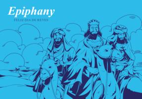 Gratis handdragen Epiphany vektorer