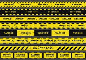 Grunge Gefahr Band Vektor