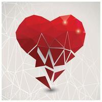 Valentinstagskarte, geometrisches Dreiecksmuster vektor