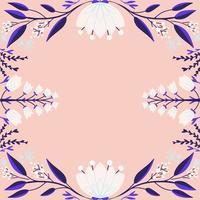 handritad blommig bakgrund vektor