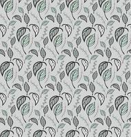 sömlösa mönster med handritade löv