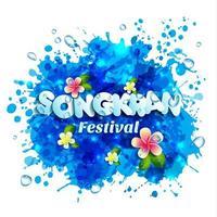 bokstäver songkran festival i Thailand vektor