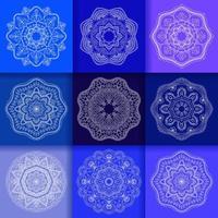 runde Blumenverzierung des Mandalas