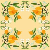 färsk citronfruktsamling vektor