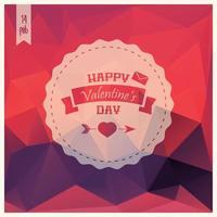 Valentinstagskarte, Etikettendesign vektor