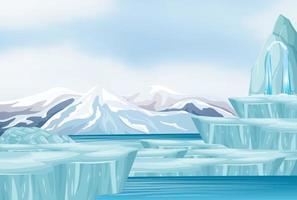 scen med snö på marken vektor