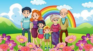 glückliche Familie im Park vektor