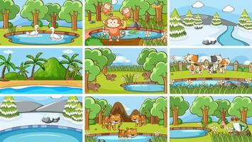 bakgrundsscener av djur i naturen