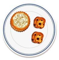 Keks auf dem Teller vektor
