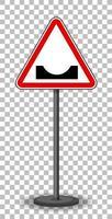 rött trafikskylt på transparent bakgrund vektor