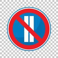 Das Parken ist an geraden Tagen auf transparentem Hintergrund verboten