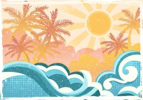 Tropical Beach In Flat Style vektor