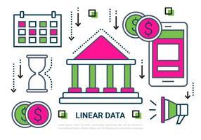 Freie lineare Daten Vector Elements
