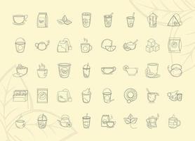 Teezeit Icon Set vektor