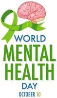 världens psykiska hälsoaffisch