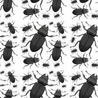 Käfer nahtloser Hintergrund vektor