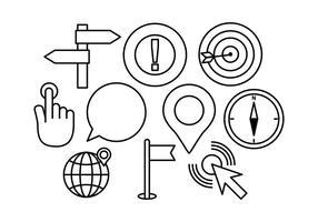 Gratis karta och GPS Sign vektorer