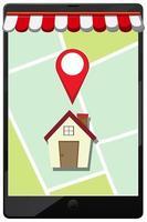 Positions-Pin auf dem Symbol für mobile Anwendungen