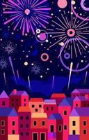 Neujahrsfeuerwerk vektor