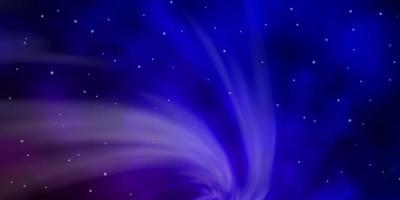 mörkblått och rött mönster med abstrakta stjärnor. vektor