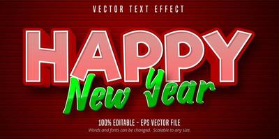 gott nytt år text, tecknad stil