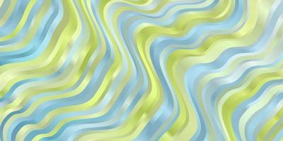 hellblauer und grüner Hintergrund mit Kurven.