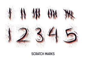 Nummerierte-Kratzer-Markierungen Vektor
