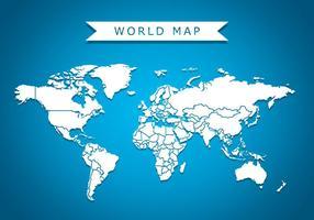 Weltkarte Vektor-Hintergrund vektor