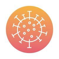covid19-Viruspartikelblockstil