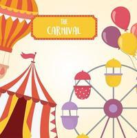tivoli, karneval och underhållning rekreation komposition vektor