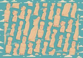 Easter Island Bakgrund Vector