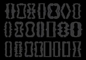 Klammer-Icons gesetzt vektor