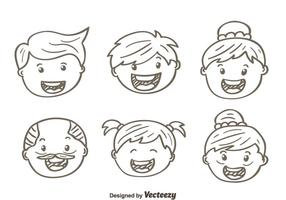 Skizze Happy Family Vektoren