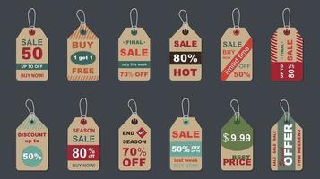 stor försäljning vintage märken set