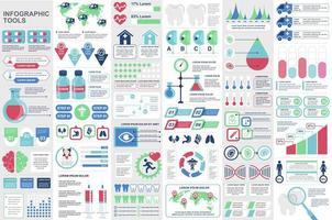 bunt medicinska infografiska element vektor