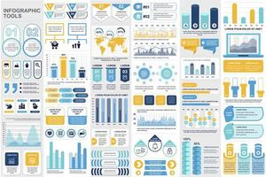 Business-Infografik-Elemente bündeln