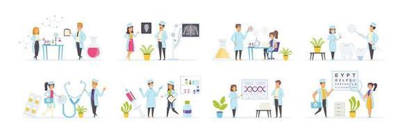 Gesundheitswesen und Medizin mit Menschen Zeichen gesetzt