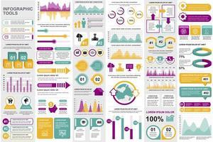 Business-Infografik-Elemente bündeln vektor
