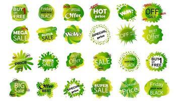 uppsättning försäljning banner badge mallar. vektor