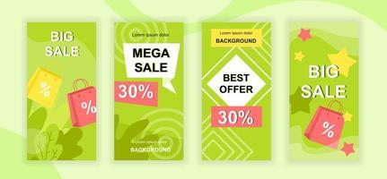 Big Sale Social Media Geschichten Design vektor
