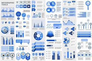 Vorlage für Infografikelemente bündeln vektor