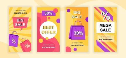 Mega Sale Social Media Geschichten Design vektor