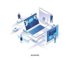 Blogging isometrisches Design