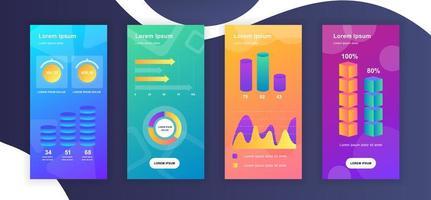 Entwurfsvorlagen für Social Media-Geschichten vektor