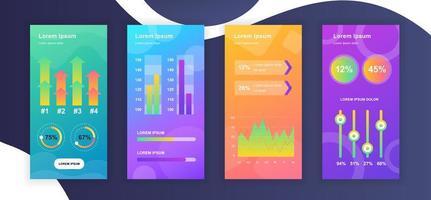 sociala medier berättelser designmallar vektor