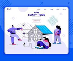 Smart Home Landing Page Vorlage vektor